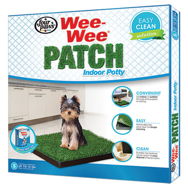 "Four Paws Wee-Wee Patch Indoor Potty Small 20"" x 20"" x 1"""
