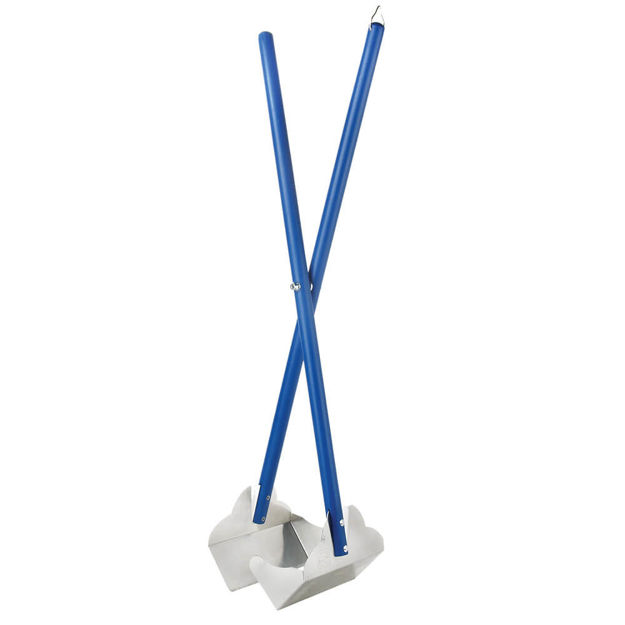 "Four Paws Sanitary Pooper Scooper Plain Scoop Blue 5.25"" x 7"" x 33.5"""