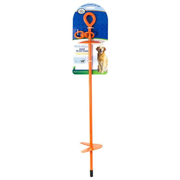 """Four Paws Giant Tie-Out Stake Orange 5.90"""" x 4"""" x 29"""""""