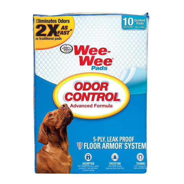 """Four Paws Wee-Wee Odor Control Pads 10 count White 22"""" x 23"""" x 0.1"""""""