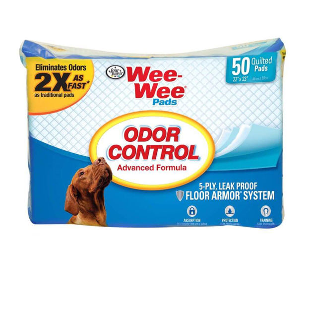"""Four Paws Wee-Wee Odor Control Pads 50 count White 22"""" x 23"""" x 0.1"""""""