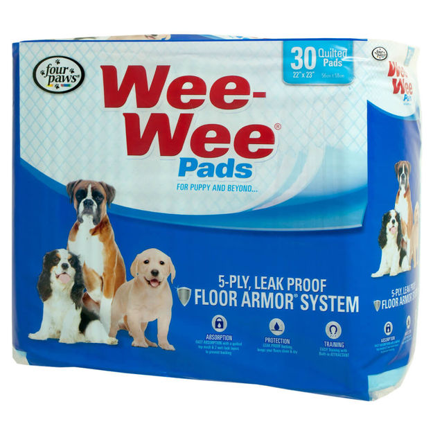 """Picture of Four Paws Wee-Wee Pads 30 pack White 22"""" x 23"""" x 0.1"""""""