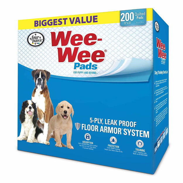 """Four Paws Wee-Wee Pads 200 pack White 22"""" x 23"""" x 0.1"""""""