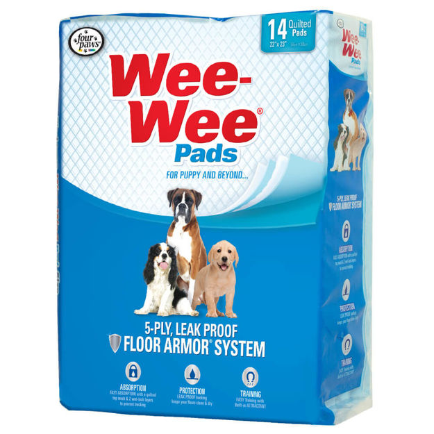 """Picture of Four Paws Wee-Wee Pads 14 pack White 22"""" x 23"""" x 0.1"""""""