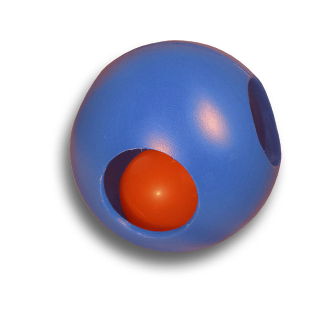 """Hueter Toledo Paw-zzle Ball 4.5 inches Assorted 4.5"""" x 4.5"""" x 4.5"""""""