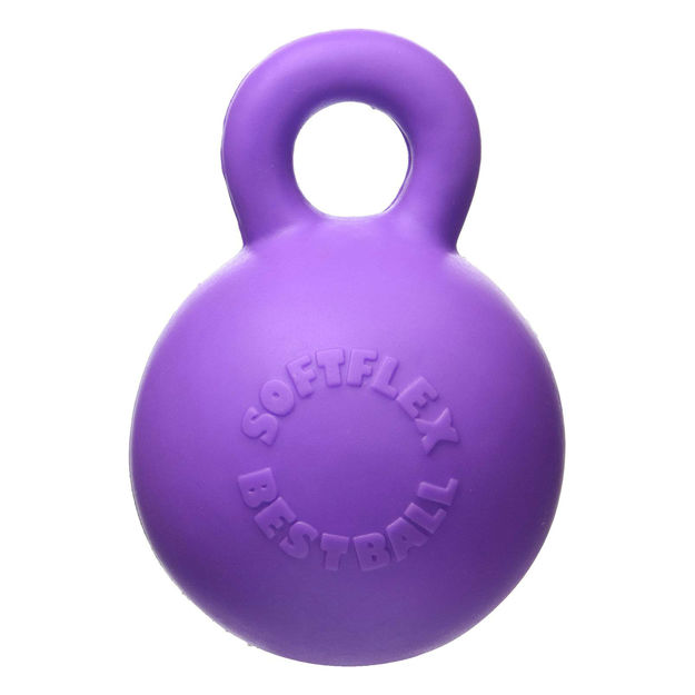 "Picture of Hueter Toledo Soft Flex Gripper Ball Dog Toy Purple 4.5"" x 4.5"" x 6"""