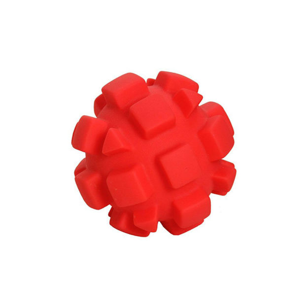 "Picture of Hueter Toledo Soft Flex Bumby Ball Dog Toy Red 4"" x 4"" x 4"""