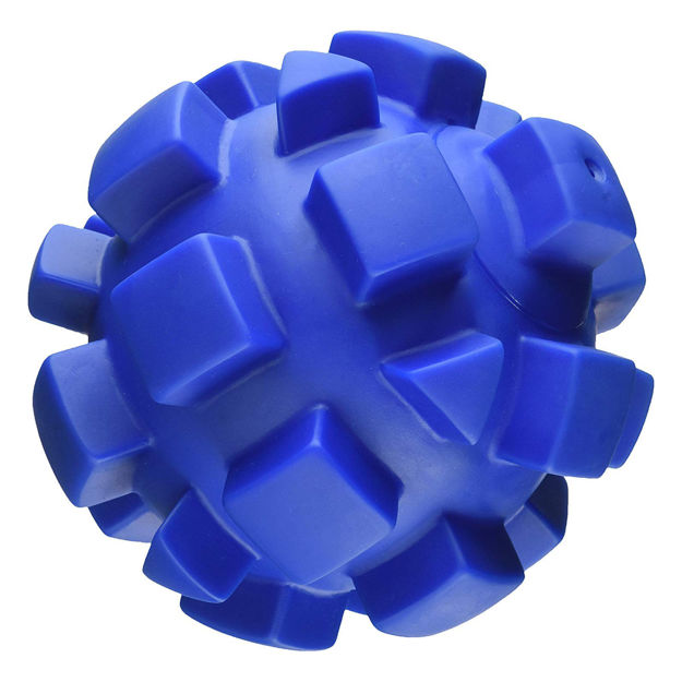 """Picture of Hueter Toledo Soft Flex Bumby Ball Dog Toy Blue 7"""" x 7"""" x 7"""""""