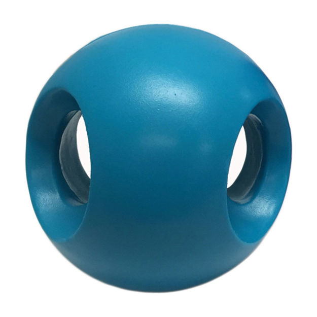 """Hueter Toledo Soft Flex Powerhouse Dog Toy Teal 4"""" x 4"""" x 4"""""""