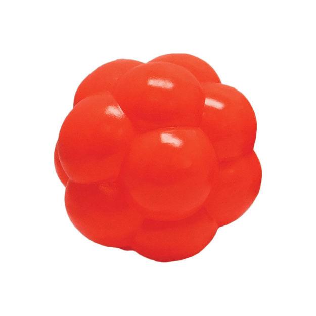 "Hueter Toledo Soft Flex Molecule Dog Toy Orange 4"" x 4"" x 4"""