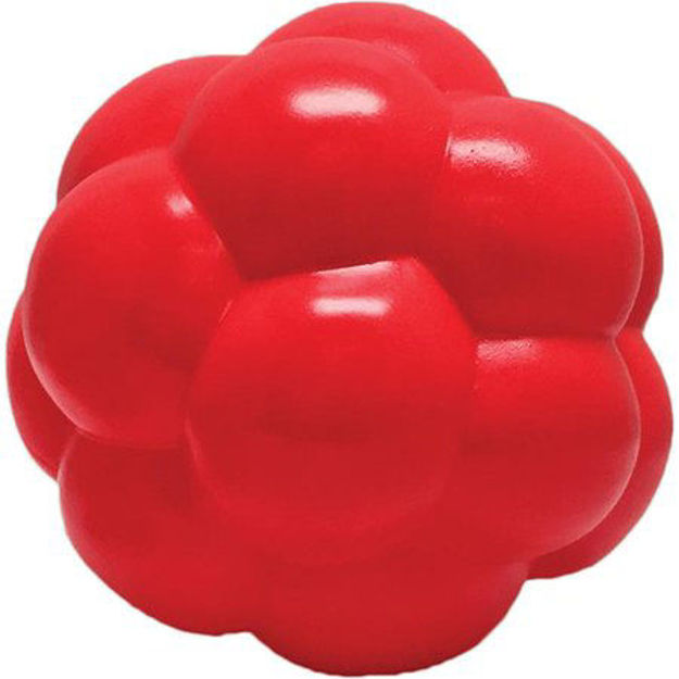 """Picture of Hueter Toledo Soft Flex Molecule Dog Toy Red 5.5"""" x 5.5"""" x 5.5"""""""