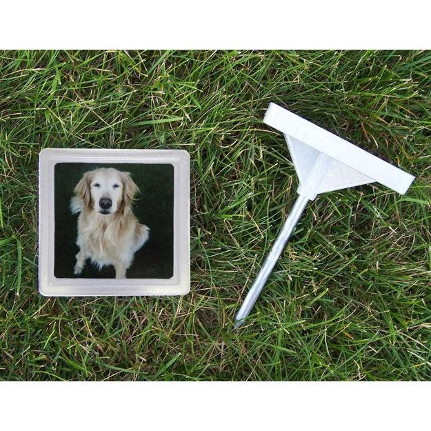 "Hueter Toledo Memory Stone with Photo Frame Small Gray 5"" x 5"" x 1.25"""