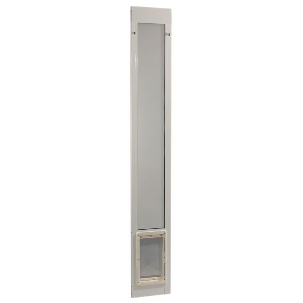 "Picture of Ideal Pet Products Fast Fit Pet Patio Door Medium White 1.88"" x 11.63"" x 75"""