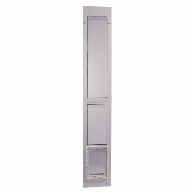 "Ideal Pet Products Vinyl Modular Pet Patio Door Medium White 2.5"" x 14"" x 80"""