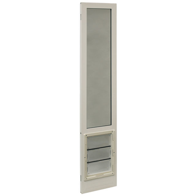 "Ideal Pet Products VIP Vinyl Insulated Pet Patio Door Extra Large White 2.5"" x 16"" x 94.5"""