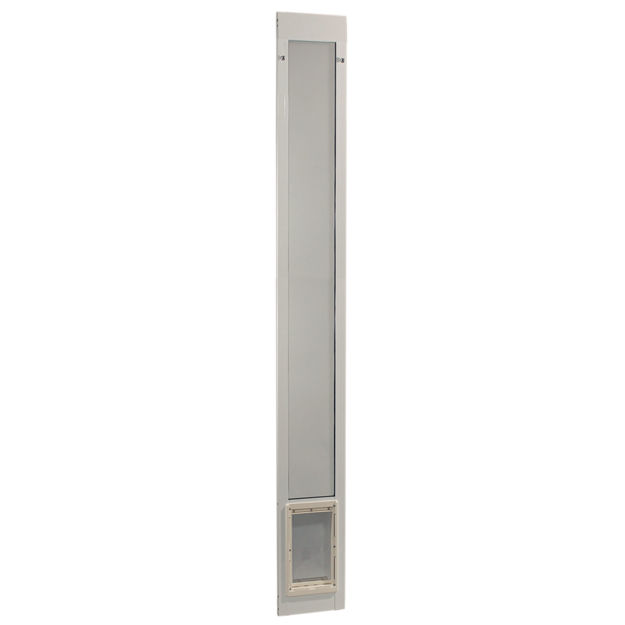 "Picture of Ideal Pet Products Fast Fit Pet Patio Door Medium White 2"" x 11.5"" x 93.94"""