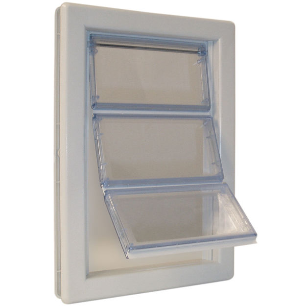 "Picture of Ideal Pet Products Air-Seal Pet Door Extra Large White 2.25"" x 13.75"" x 18.62"""