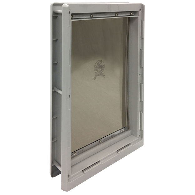"Picture of Ideal Pet Products Designer Series Pet Door Extra Large Grey 2.12"" x 12.43"" x 18.62"""