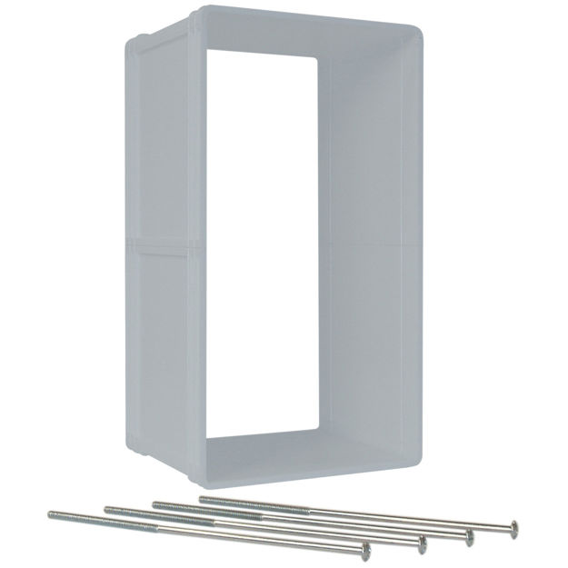 """Ideal Pet Products Ruff-Weather Wall Kit Medium Grey 1.5"""" x 7.75"""" x 7.75"""""""