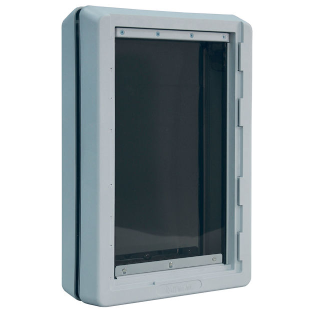 """Picture of Ideal Pet Products Ruff-Weather Pet Door Extra Large Grey 5.75"""" x 19.94"""" x 21.62"""""""