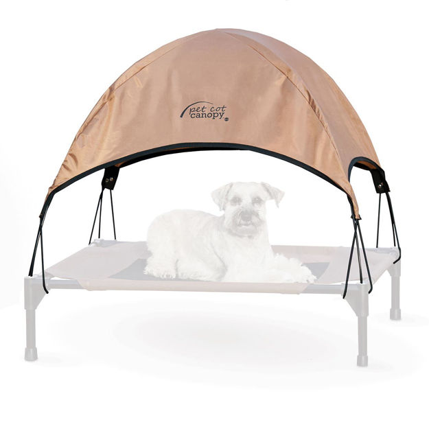 """Picture of K&H Pet Products Pet Cot Canopy Medium Tan 25"""" x 32"""" x 23"""""""