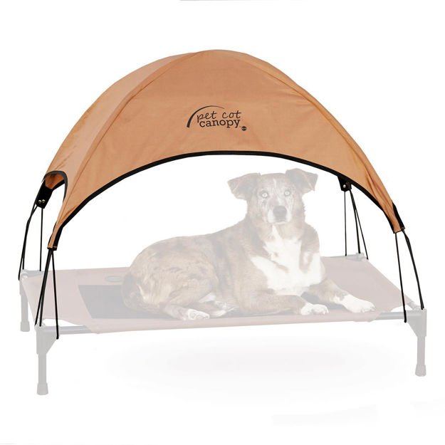 """Picture of K&H Pet Products Pet Cot Canopy Large Tan 30"""" x 42"""" x 28"""""""