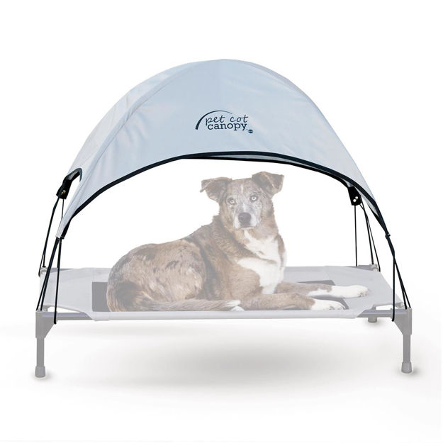"Picture of K&H Pet Products Pet Cot Canopy Large Gray 30"" x 42"" x 28"""