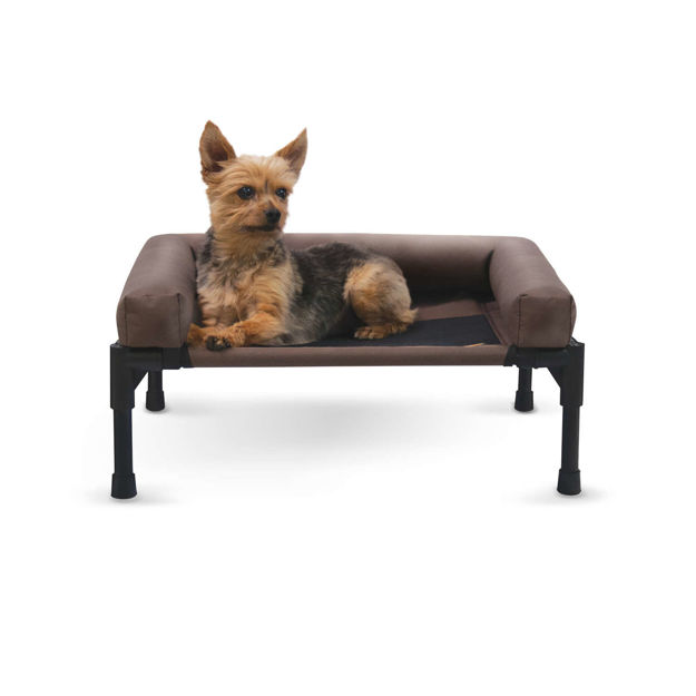 """Picture of K&H Pet Products Original Bolster Pet Cot Small Chocolate 17"""" x 22"""" x 7"""""""
