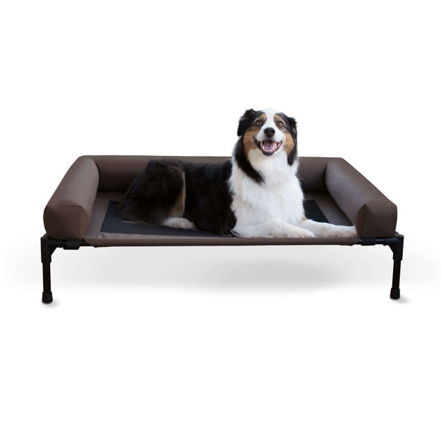 "Picture of K&H Pet Products Original Bolster Pet Cot Large Chocolate 30"" x 42"" x 7"""