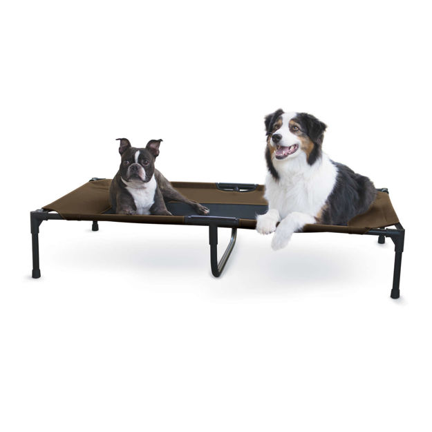 "Picture of K&H Pet Products Original Pet Cot Extra Large Chocolate 32"" x 50"" x 9"""