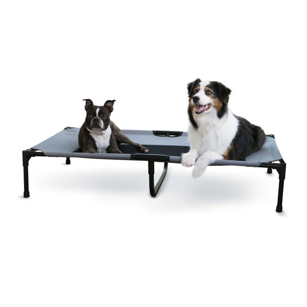 """Picture of K&H Pet Products Original Pet Cot Extra Large Gray 32"""" x 50"""" x 9"""""""