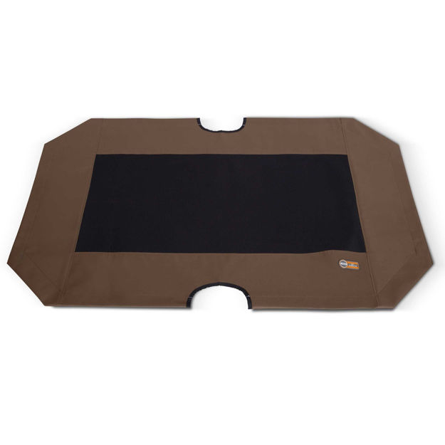 """Picture of K&H Pet Products Cot Replacement Cover Extra Large Chocolate / Black 32"""" x 50"""" x 0.25"""""""