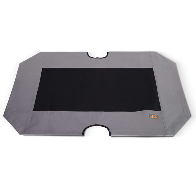 """K&H Pet Products Cot Replacement Cover Extra Large Gray / Black 32"""" x 50"""" x 0.25"""""""