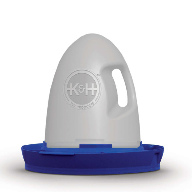 "Picture of K&H Pet Products Poultry Waterer Unheated 2.5 gallon Blue 16"" x 16"" x 15"""