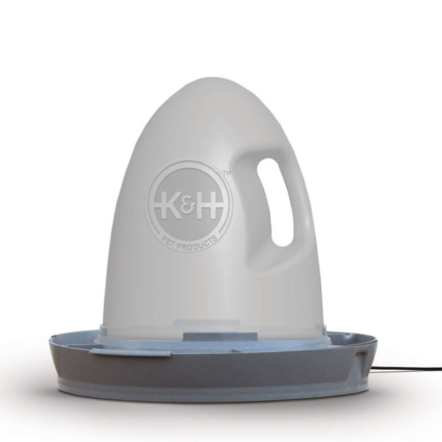 """Picture of K&H Pet Products Poultry Waterer Heated 2.5 gallon Gray 16"""" x 16"""" x 15"""""""