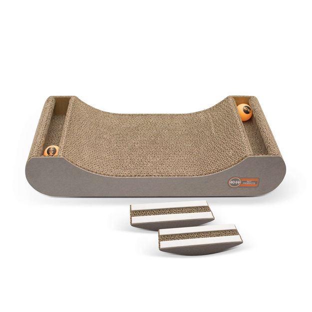 "Picture of K&H Pet Products Kitty Tippy Scratch N' Track Cardboard Toy Brown 20.5"" x 9.5"" x 2"""