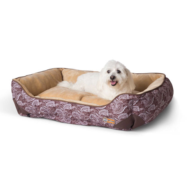 """Picture of K&H Pet Products Self-Warming Lounge Sleeper Medim Brown 24"""" x 30"""" x 9"""""""