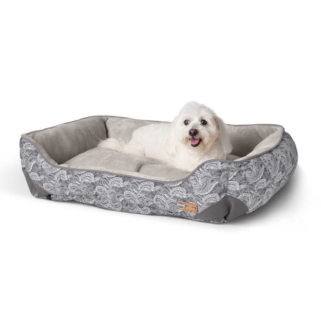 """Picture of K&H Pet Products Self-Warming Lounge Sleeper Medim Gray 24"""" x 30"""" x 9"""""""