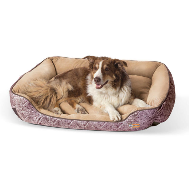 """Picture of K&H Pet Products Self-Warming Lounge Sleeper Large Brown 32"""" x 40"""" x 10"""""""