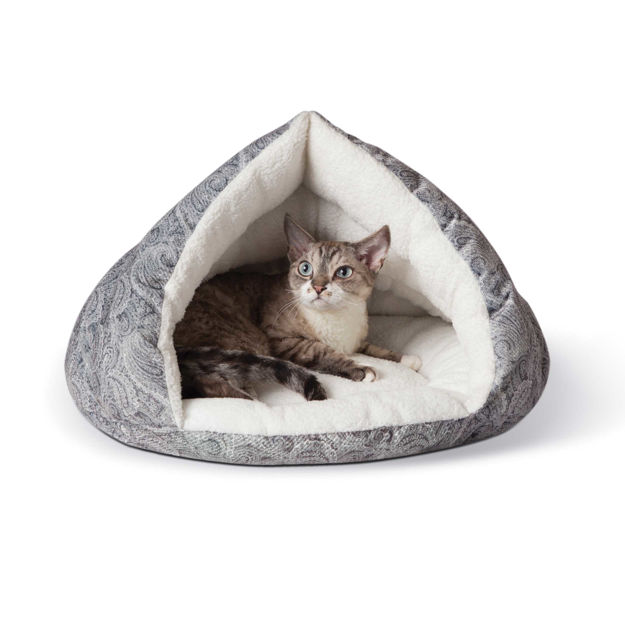 "Picture of K&H Pet Products Self-Warming Kitty Hut Gray 19"" x 18"" x 18"""