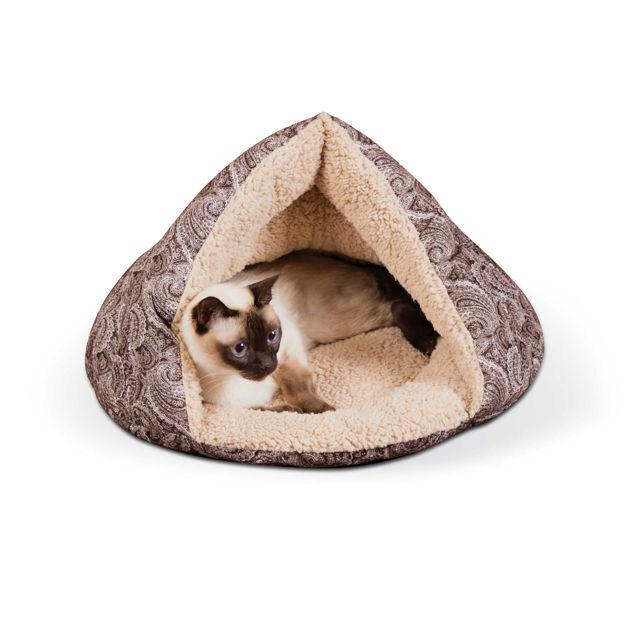 """K&H Pet Products Self-Warming Kitty Hut Brown 19"""" x 18"""" x 18"""""""