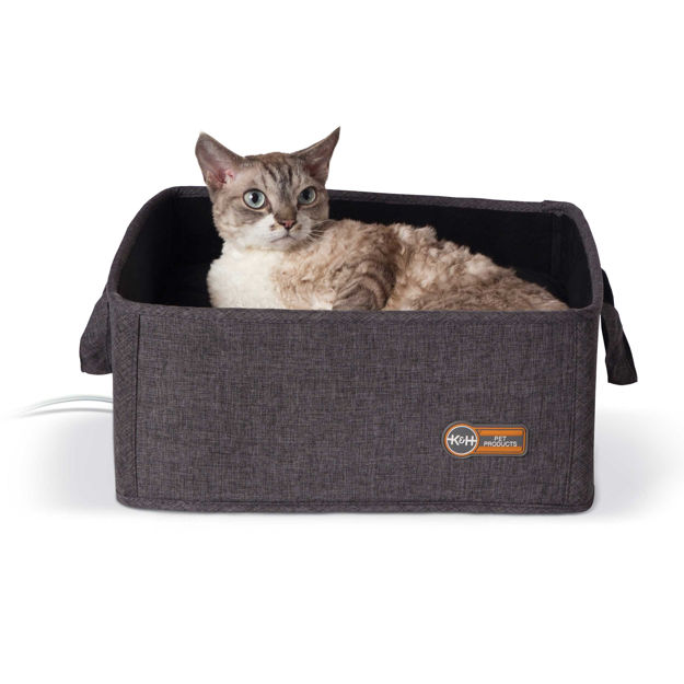 "Picture of K&H Pet Products Thermo-Basket Pet Bed Gray 15"" x 15"" x 6"""