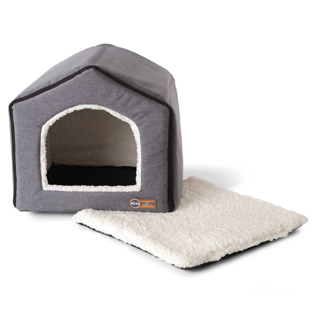 "Picture of K&H Pet Products Indoor Pet House Gray 16"" x 15"" x 14"""