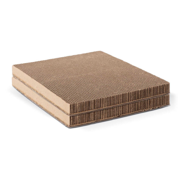 """K&H Pet Products Thermo-Kitty Playhouse Cardboard Refill Only 2 pack Brown 12"""" x 14"""" x 0.5"""""""
