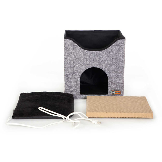 """K&H Pet Products Thermo-Kitty Playhouse Gray 14"""" x 12"""" x 15"""""""