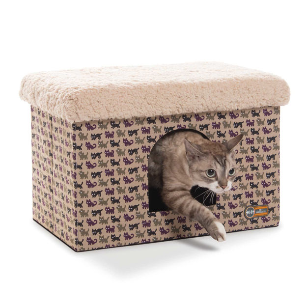 """Picture of K&H Pet Products Kitty Bunkhouse Tan 12"""" x 18"""" x 12"""""""
