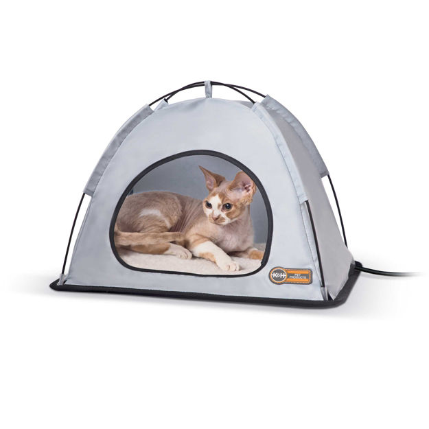 "K&H Pet Products Pet Thermo Tent Small Gray 14"" x 18"" x 12.5"""