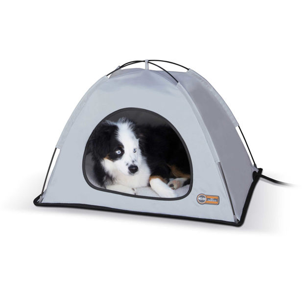 "Picture of K&H Pet Products Pet Thermo Tent Medium Gray 26.5"" x 30.5"" x 14"""
