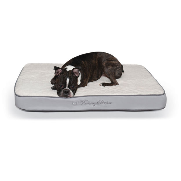 """Picture of K&H Pet Products Memory Sleeper Pet Bed Gray 23"""" x 35"""" x 3.75"""""""