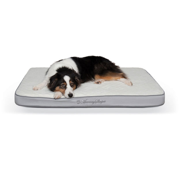 "Picture of K&H Pet Products Memory Sleeper Pet Bed Gray 29"" x 45"" x 3.75"""